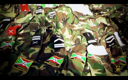 Captured AMISOM Burundian Uniforms and Rank Slides