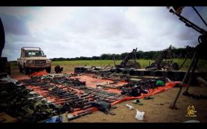 Captured AMISOM Equipment including Heavy Mortars and Ammunition
